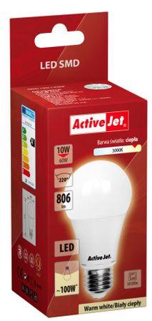 ActiveJet LED žarnica, 10W, E27, topla svetloba