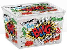 Kis škatla za shranjevanje C-box Comics Cube, 27 l