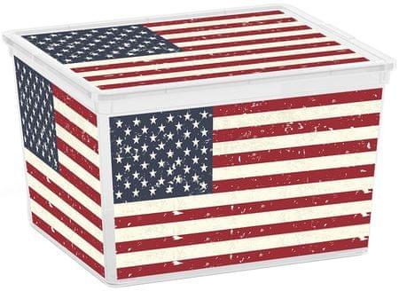 Kis škatla za shranjevanje C-box American Flag Cube, 27 l