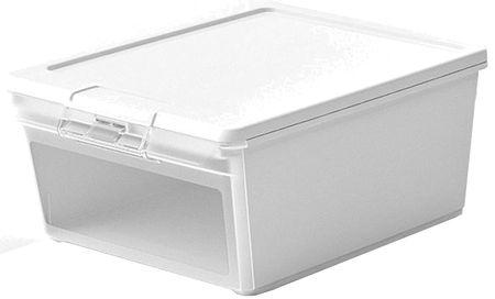 Kis škatla za shranjevanje Twin Box M, 11 l, bela