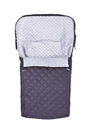 Sensillo Śpiworek pikowany Minky, Graphite/Grey