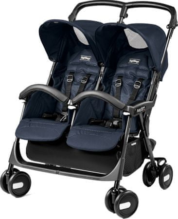Peg Perego voziček Aria Twin Shopper, navy