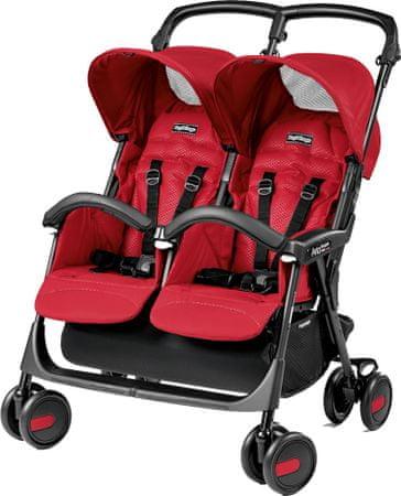 Peg Perego voziček Aria Twin Shopper, red