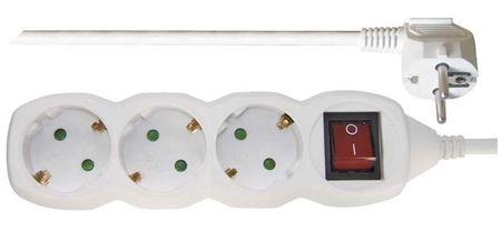 Emos podaljšek Šuko 3 m, 3 vtičnice, stikalo, 1,5 mm2 (P1323R)