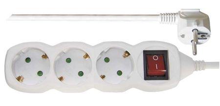 Emos podaljšek Šuko 5 m, 3 vtičnice, stikalo, 1,5 mm2 (P1325R)