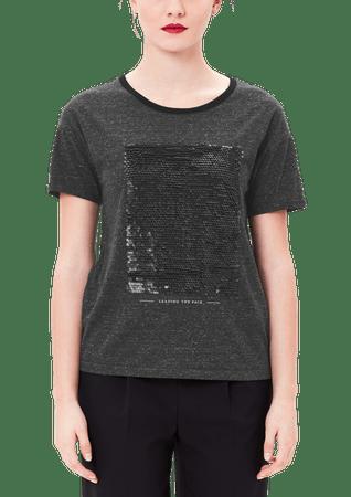 s.Oliver női póló 40 sötét szürke