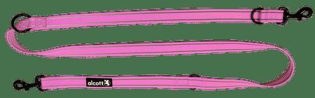 Alcott preklopni povodec do 200 cm, roza, M
