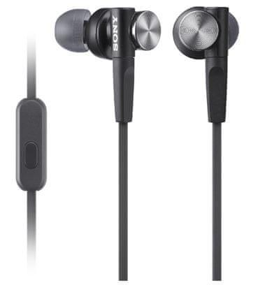 Sony slušalke z mikrofonom XB50AP Extra Bass, črne