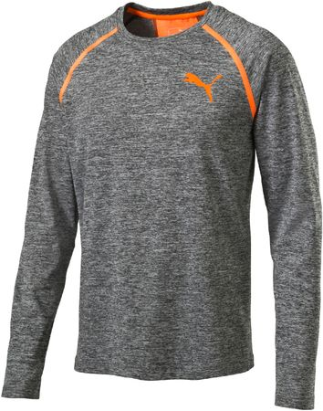 Puma Bonded Tech LS Tee Dark Gray L