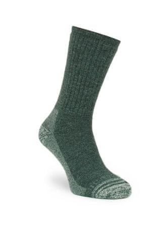 Silverpoint Ponožky Pánské Alpaca Merino Wool Hiker Dark Green 39-42