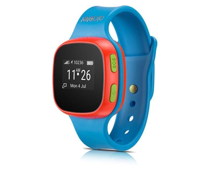 Alcatel MOVE TIME Track&Talk Watch, modrá / červená