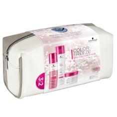 Schwarzkopf świąteczny zestaw BC Color Freeze szampon, odżywka spray, maska, torba