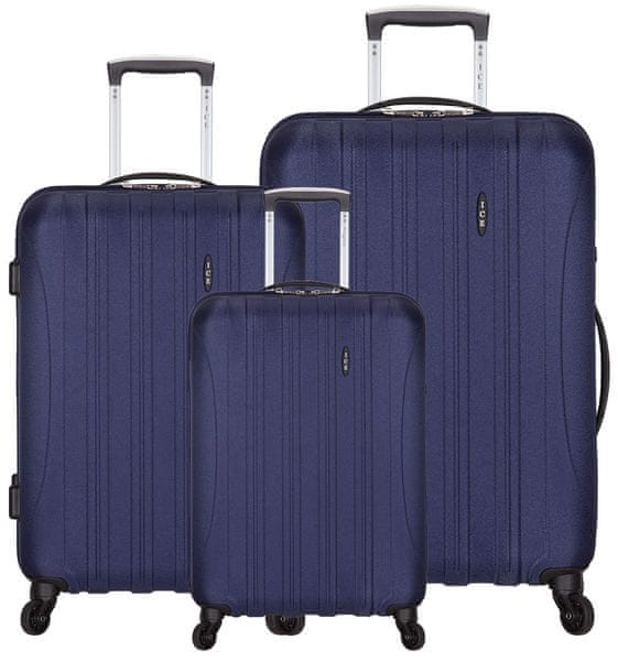 AZURE Sada kufrů Ice modrá