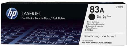 HP č.83A dvojbalení černé originální tonerové kazety LaserJet (CF283AD)