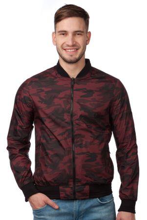 Brave Soul férfi kabát Regalreverse XL bordó