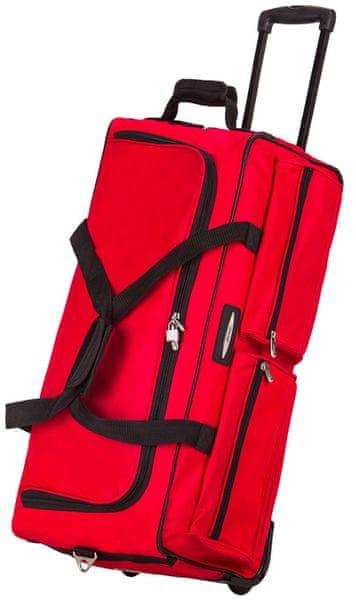 REAbags Cestovní taška na kolečkách Jeep červená