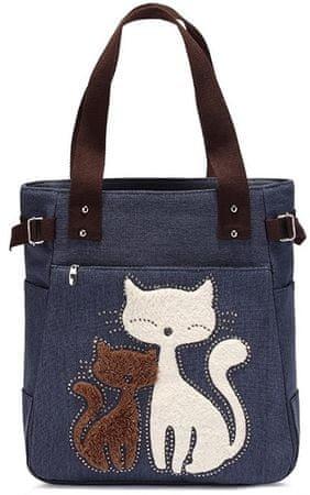 Kaukko torba Cutty Cat, modra