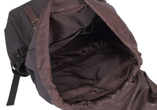Kaukko vintage nahrbtnik Hipster Bear, črn