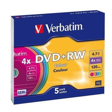 Verbatim DVD+RW medij, 4.7GB, 5 kosov (43297)