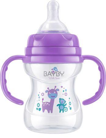 BAYBY BFB 6105 Antykolkowa butelka 150 ml 6m+, fioletowa