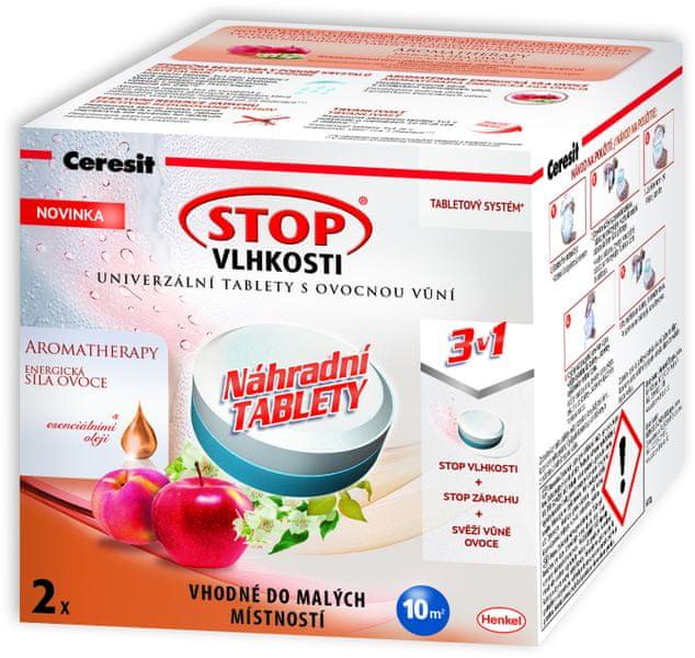Ceresit Stop vlhkosti Aero 360 náhradní tablety 2x300g energické ovoce