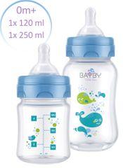BAYBY Sada 2 dojčenských fliaš 0m+