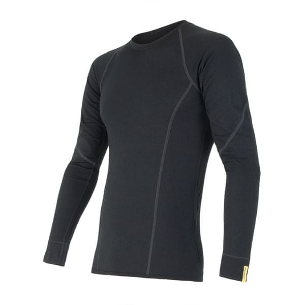 Sensor Merino Wool Active pánské triko dlouhý rukáv černá XL