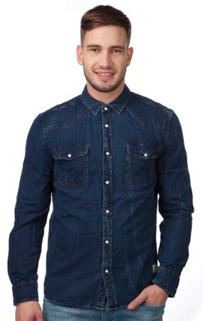 Mustang moška srajca M modra
