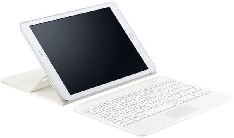"""Samsung polohovací pouzdro s Bluetooth klávesnicí pro Tab S 2, 9,7"""", White (EJ-FT810UWEGWW)"""