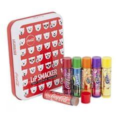 Lip Smacker Balení balzámů na rty v krabičce (LS Coca-Cola Polar Bear Emojis Tin Box) 6 x 4 g