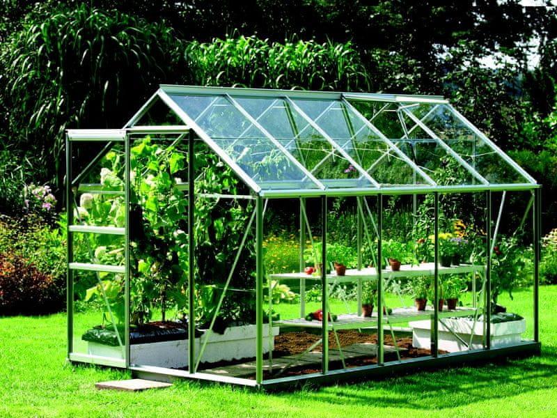 VITAVIA skleník VITAVIA VENUS 6200 sklo 3 mm stříbrný