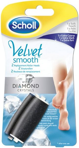 Scholl Velvet Smooth Náhradní hlavice jemná 1 kus + extra hrubá 1 kus