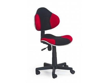 Dětská židle Flash černo-červená