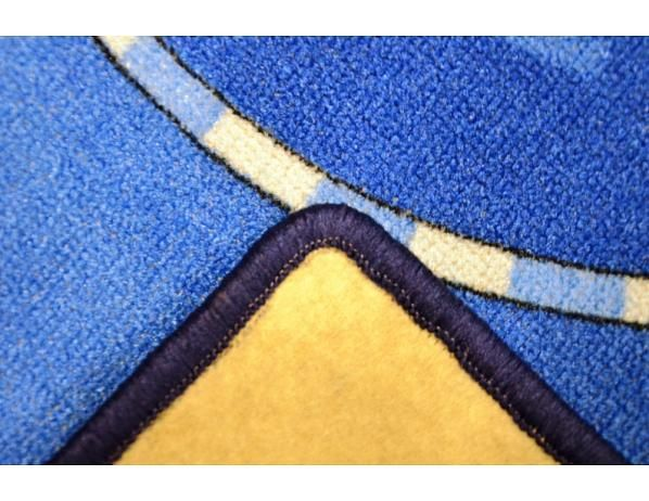 Dětský koberec Cars 77 World of cars blue, 95x200 cm