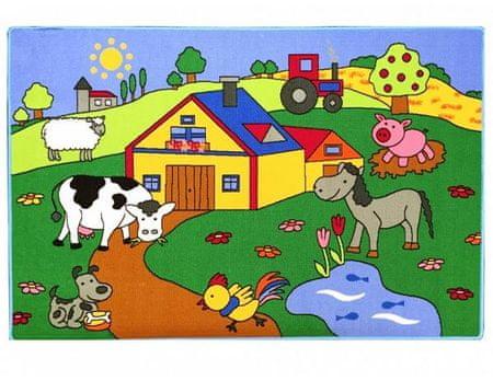 Dětský koberec Na farmě 100x150 cm