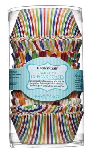 Kitchen Craft Sada košíčků na muffiny 250 ks, barevné