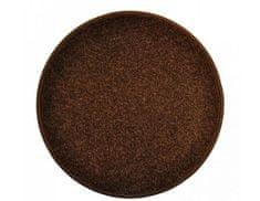 Vopi Kulatý hnědý koberec Eton průměr 80 cm