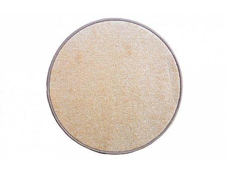 Kusový koberec Eton béžový průměr 160 cm