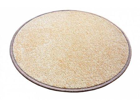 Kusový koberec Eton béžový průměr 120 cm