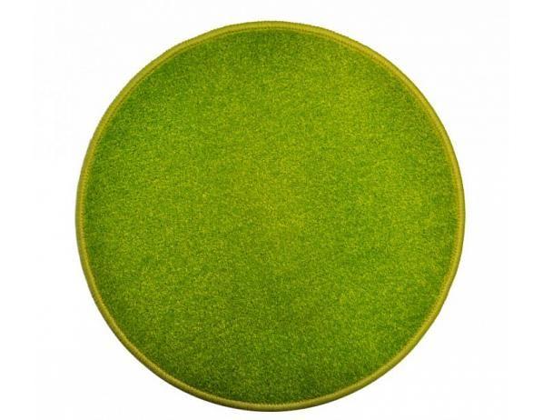Kulatý zelený koberec Eton průměr 120 cm