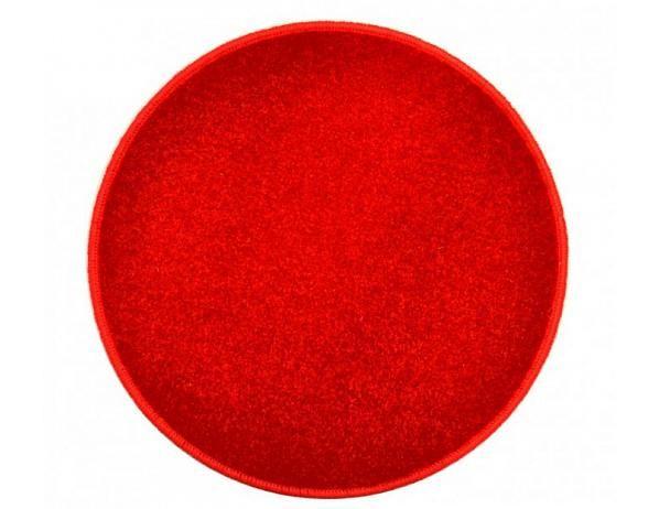 Červený kulatý koberec Eton průměr 80 cm