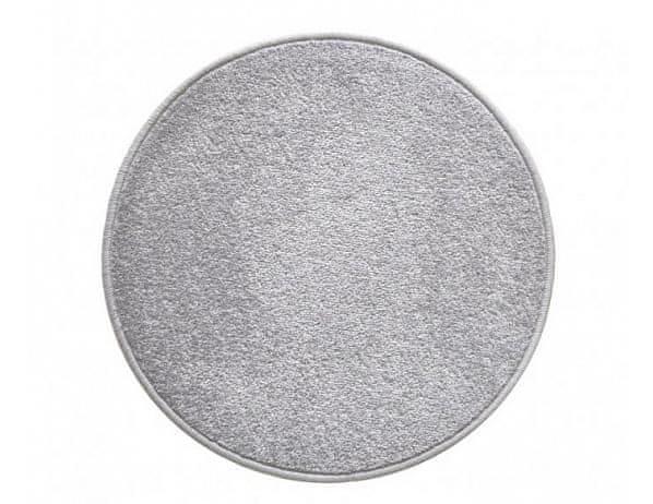 Kulatý šedý koberec Eton průměr 80 cm