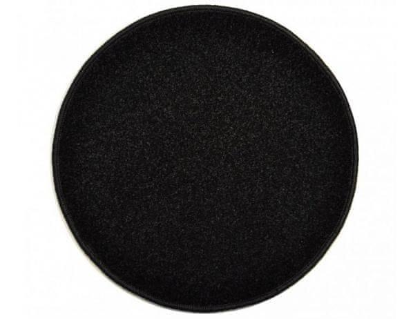 Kulatý černý koberec Eton průměr 120 cm