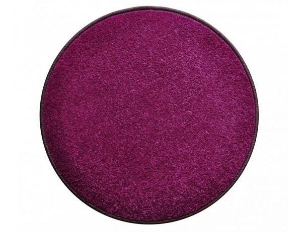 Kulatý fialový koberec Eton průměr 160 cm
