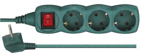 Emos podaljšek 3 m, 3 vtičnice, stikalo (P1323Z)