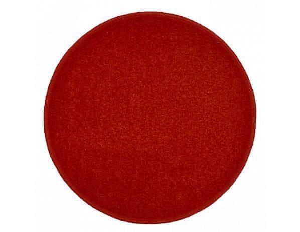 Kulatý vínově červený koberec Eton průměr 80 cm