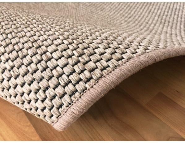 Kusový světle béžový koberec Nature 120x170 cm