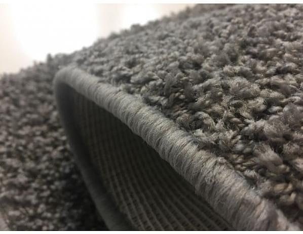 Kusový koberec Color Shaggy šedý, průměr 160 cm