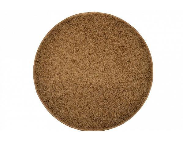 Kusový koberec Elite Shaggy světle hnědý, průměr 200 cm