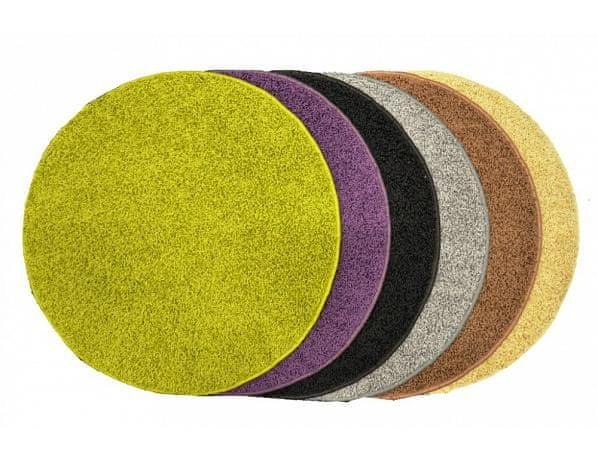 Kusový koberec Elite Shaggy světle hnědý, průměr 80 cm